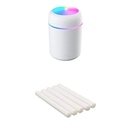 Kunyun Difusor de Aceite de Aroma al Aire Libre de 300 ml portátil Pulverizador Fresco de la Niebla del USB con la luz Colorida de la Noche para el Coche del hogar. (Color : White 5 Filters)