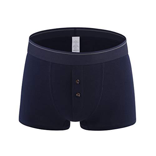 Pottoa heren ondergoed | Boxershorts mannen | Heren Hot Fashion Solid Retroshorts Kleurrijke Comfortabele katoenen onderbroek Plus Size