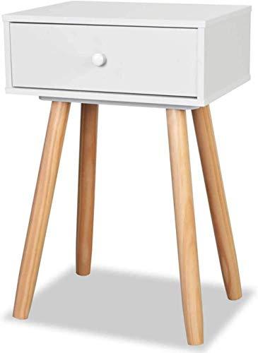 Nachttisch Nachttisch Massivholz Kiefer Beine + MDF Rahmen Nachttisch oder Telefonständer Nachttisch Set 40x30x61cm Beistelltisch
