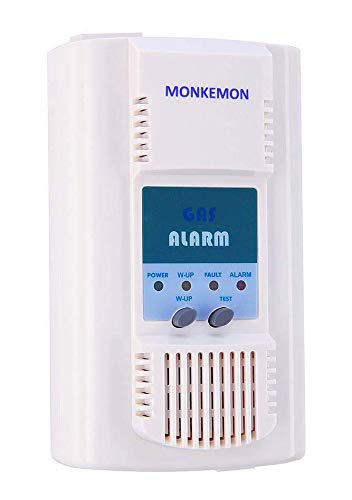 Propane Detector, Household Propane/Natural Gas Detector, 110V AC Plug-in Propane and Natural Gas Alarm (with 5.2 Foot Power Cord)