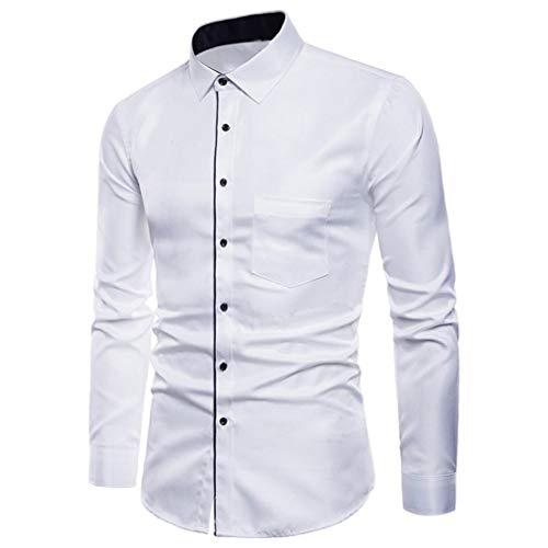 Camisas Casual Hombre Manga Larga, Covermason Hombres Oxford Trajes Formales Casuales Slim Fit tee Camisas de Vestir