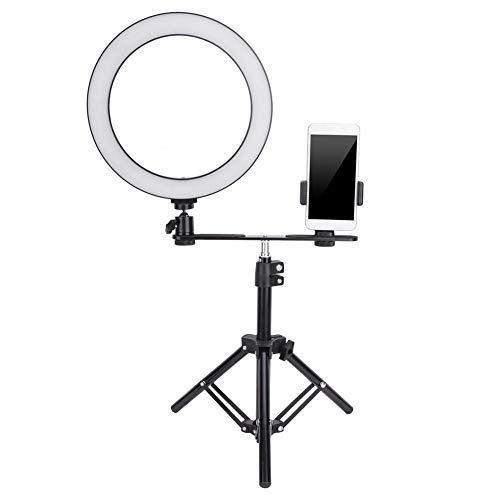LED-ringlamp - 10 inch LED-ringlicht Dimbare USB-poort Fotografie Lamp met Telefoonclip - Opvouwbaar Statief voor Live-uitzendingen, Schoonheid en Fotografie