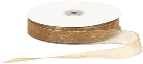 Offray Berwick Simply Sheer Asiana Ribbon-7/8 W Gold Garden, 7/8 Inch x 100 Yard