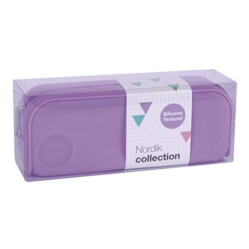 APLI 18416 - Estuche silicona Nordik Collection - Violeta