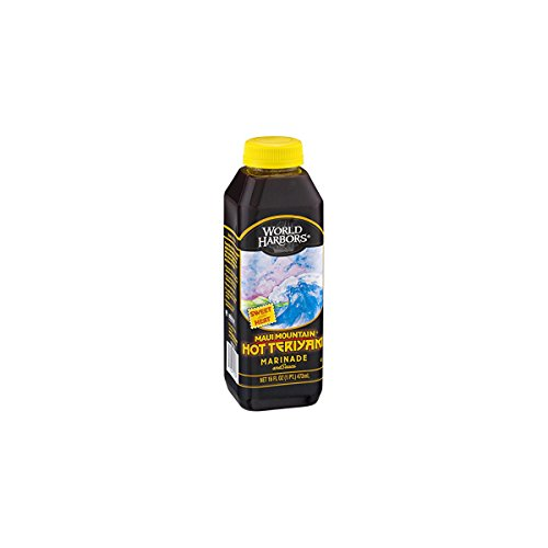 World Harbors Hot Teriyaki, 16-Ounce Bottles (Pack of 6)