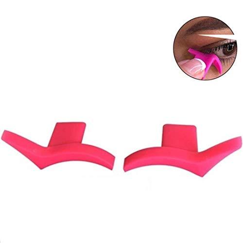 2 pezzi professionali eyeliner timbri occhio di gatto alato modello in silicone a forma di ala dell'ombretto Eye Liner trucco cosmetici Stencil strumenti per ragazza donne