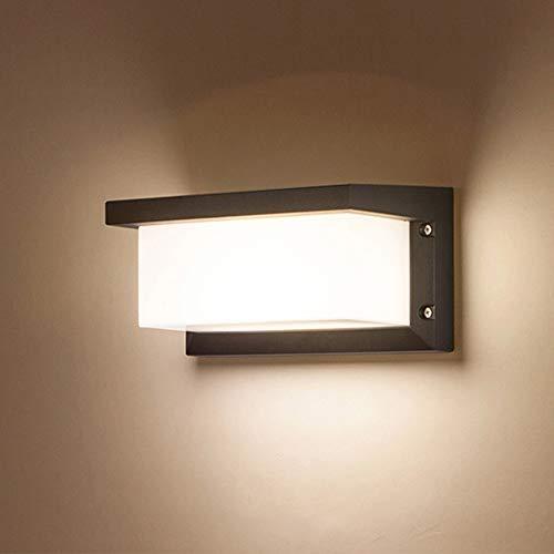 Combuh LED Wandleuchte IP65 Wasserdichte 12W Warmweiß 3000K Aluminium Außenwandleuchte Außenlampe für Garten Front Badezimmer Veranda Garage 260 * 125 * 125MM