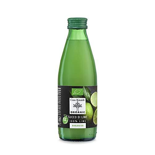 Casa Rinaldi カーサ リナルディ 生搾り有機ライムストレート100%果汁 250ml 有機JAS認証 国際規格HACCP認証