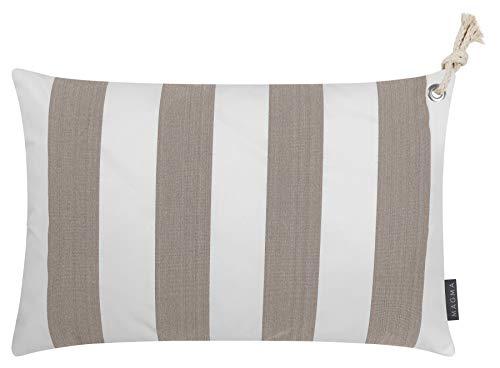 Magma Heimtex - Fodera per cuscino Santorin Outdoor Oeko-Tex, 40 x 60 cm, colore: Tortora