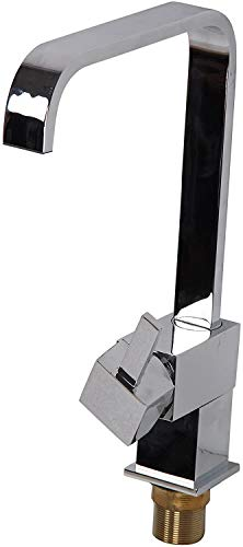 Logo Grifo de la Cocina, Cobre Cocina Moderna Cuadrado Fregadero Grifo del Fregadero de latón Cromado 360 Grados de rotación de Grifo Mezclador, la válvula de cerámica Doble, Grifo Integrado