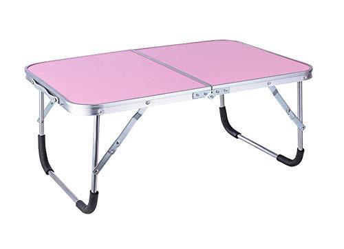 CDwxqBB klaptafel voor computer voor eenvoudige bediening en transport, inklapbare tafel voor werken of verwerken met een laptop op bed of op het gazon (roze)