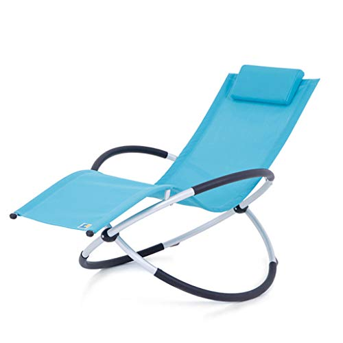 shcc Outdoor Foldable Rocking Chair, Rocker Lounger Garden Chair,Lightweight and Sturdy Aluminum, Easy Storage, Patio Leisure Chair with Armrests