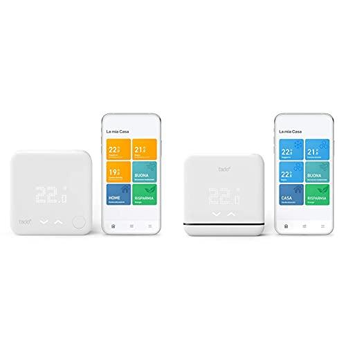 tado° Kit Base Termostato Intelligente Cablato V3+, Gestione Smart Del Riscaldamento & Controllo Climatizzazione Intelligente & Controllo Pompa Di Calore V3+, Installazione Autonoma