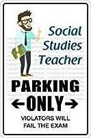 社会科教師駐車場のみレトロヴィンテージメタルホームハウスコーヒービールドリンク