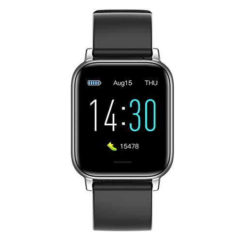 YJSJ Smart Waterproof Watch para Android, Fitness Watch para Hombres Y Mujeres con Pantalla De Retina Super Touch Super HD De 1.3', Reloj De Pulsera De Actividad(Color:Negro)