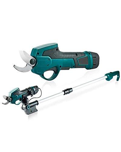 1yess Elektro-Gartenschere, elektrische Gartenschere, 7,2V 1300mAh Li-Ionen-Akku-Baumast Pruner, 25 mm Secateurs Pruning Schneidwerkzeug