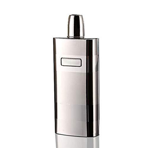 Portable Heupfles 12 Oz roestvrij staal Jug Wijn Best Whiskey Leak groomsmen geschenken Uitstekend Gevoel en Textuur (Color : Silver, Size : Free size)