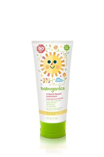 Babyganics Mineral-Based Sunscreen SPF 50, 6 oz (Pack of 2), Packaging May Vary