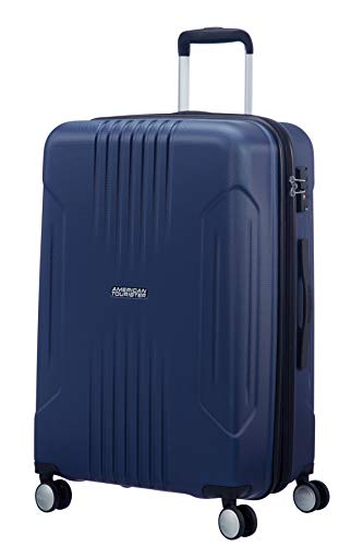 American Tourister Tracklite - Spinner Medium Expandable Koffer, 67 cm, 82 Liter, Dark Navy