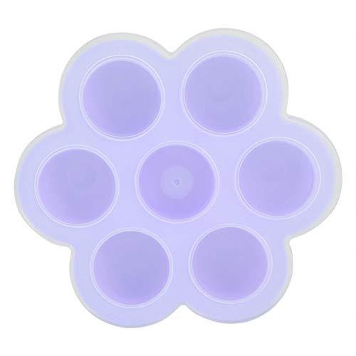 Recipiente para alimentos para bebés Bandeja para congelador de alimentos Recipiente para congelador de silicona Bandeja para congelador de alimentos de silicona para alimentos para el(púrpura)