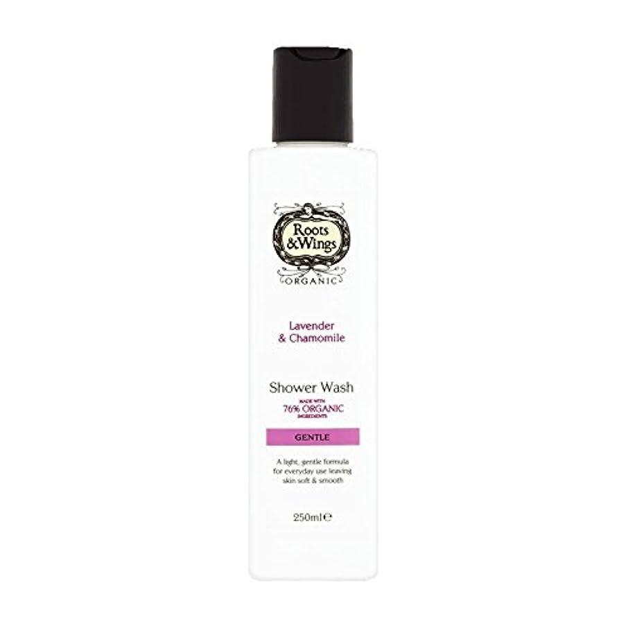 偽レイアウト株式Roots & Wings Shower Wash Lavender & Chamomile 250ml (Pack of 2) - ルーツ&翼シャワーウォッシュラベンダー&カモミール250ミリリットル (x2) [並行輸入品]