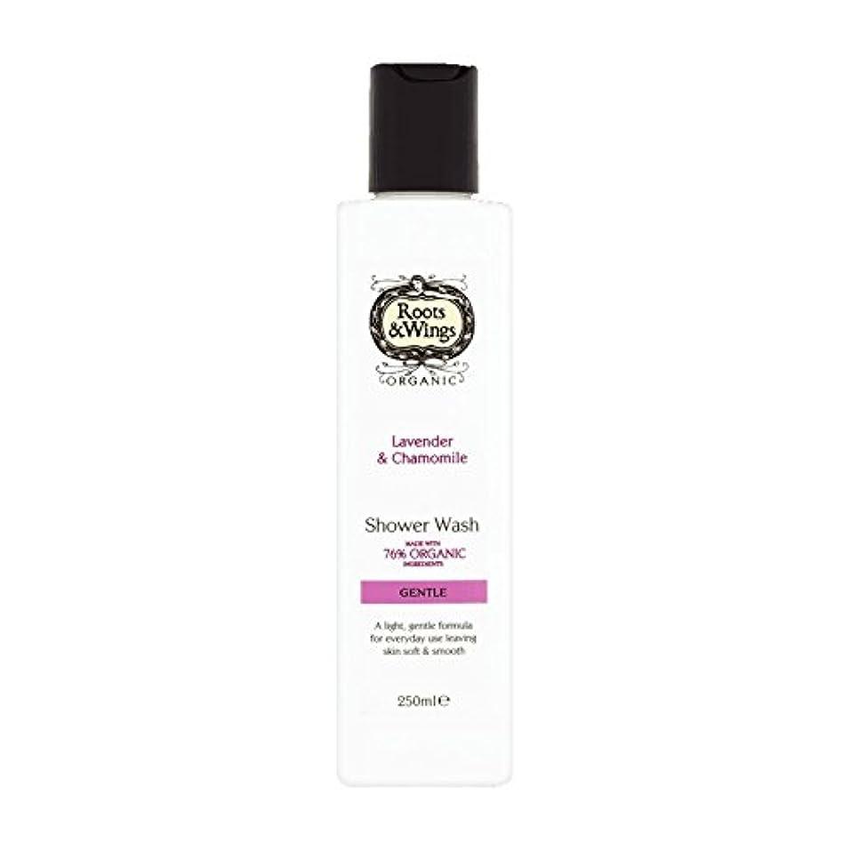 アナログ毎週匿名Roots & Wings Shower Wash Lavender & Chamomile 250ml (Pack of 6) - ルーツ&翼シャワーウォッシュラベンダー&カモミール250ミリリットル (x6) [並行輸入品]
