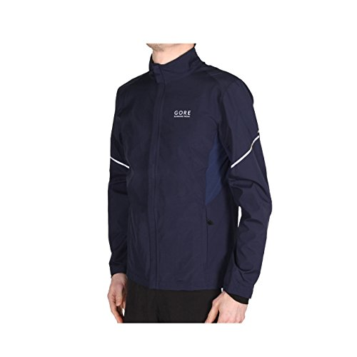Gore Running Wear Homme Veste de Course Chaude, Légère, Coupe-vent, GORE WINDSTOPPER, ESSENTIAL WS AS Partial Jacket, Taille XXL, Noir Iris, JWESNO0C0007