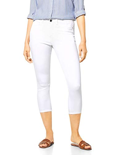 Street One Damen 373044 York high col. Jeans, White, W31/L26