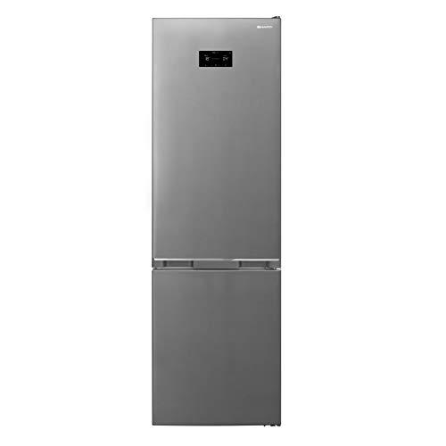 Sharp SJ-BA20DHXIE-EU Kühl-Gefrier-Kombination,E,201 cm Höhe,266 L Kühlteil,101 L Gefrierteil,NoFrost,Elektronische Steuerung,ZeroDegreeZone,AdaptiFresh,Edelstahl