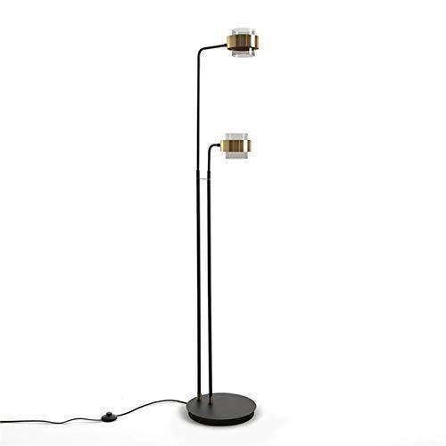 CuteLife Lámpara de Piso Lámpara de Vidrio de lámpara de Vidrio de lámpara de luz de lámpara de luz de latón Lámpara de Vida de lámparas de Vidrio. para Sala de Estudio de Oficina