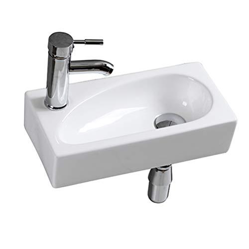 Lave Main Suspendu Céramique Lavabo Mural pour wc...