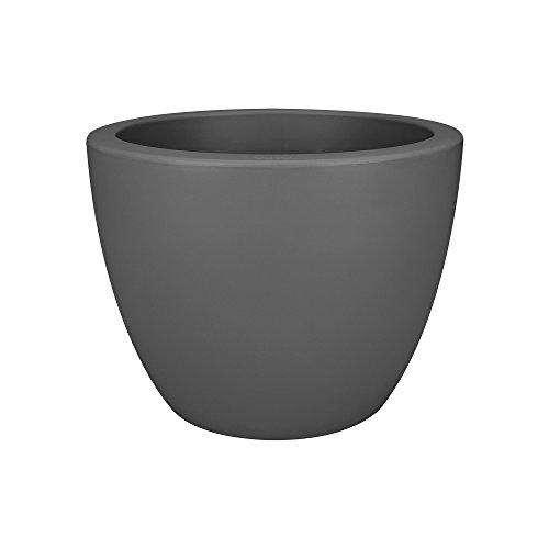 Elho Pure Soft Round 30 - bloempot - wit - binnen en buiten bloempot 40 cm antraciet