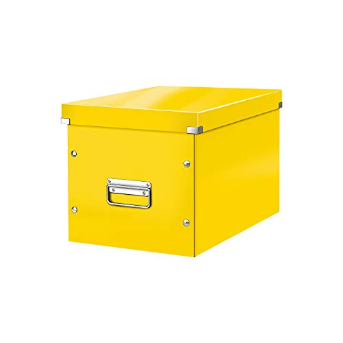 Leitz Click & Store Aufbewahrungs- und Transportbox, Würfelform, Groß, gelb, 61080016