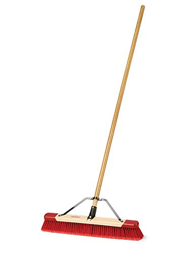 Harper 3424P1 Premium Indoor/Outdoor Multi-Surface All-Purpose Hardwood 24 in. Push Broom