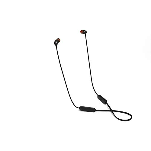 (Renewed) JBL Tune 115BT in-Ear Wireless Headphones with Deep Bass, 8-Hour Battery Life and Quick Charging (Black)