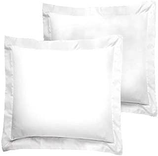 American Pillowcase Euro Shams 26x26 Set of 2 Pillow Covers - Luxury 100% Egyptian Cotton (2 Pack, European 26 x 26, White)