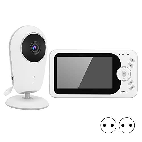 Monitor de interior, intercomunicador de voz bidireccional Pantalla de 4,3 pulgadas Infantes Monitor de bebé visual HD inteligente con reloj despertador para el hogar(Transl)