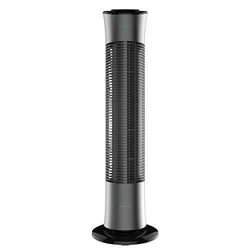 Cecotec Ventilador de Torre con Mando a Distancia y Temporizador EnergySilence 7090 Skyline. 45 W, 30'' (76cm) de Altura, Oscilante, Motor de Cobre, 3 Velocidades, Gris