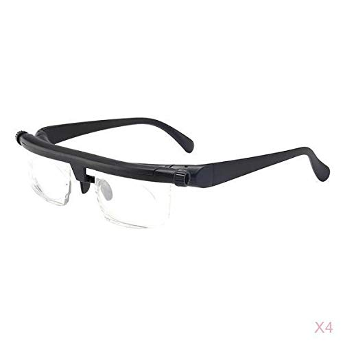 harayaa Lector de Gafas Presbiópicas Unisex de 4 Pares, Corrección de Hipermetropía Y Miopía Adecuado