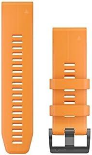 Garmin 010-12741-03 Quickfit 26 手表表带 - 太阳能喇叭橙色硅胶 - Fenix 5X Plus/Fenix 5X 配件表带