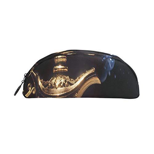 Bolígrafo Bolígrafo Lámpara mágica de Aladdin en negro Bolso de bolígrafo de humo Organizador Estuche de lápices Bolso con cremallera Para estudiantes Clase Niños Niño Niña Escuela Estuche de algodón