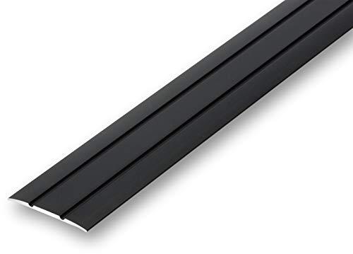 (7,93€/m) Übergangsprofil flach 38 mm selbstklebend (900 mm, schwarz)
