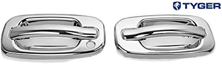 For Gmc Sierra 99-06 Chrome 2 Doors Handles Covers W//Out Passenger Keyhole