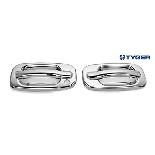 Tyger ABS Triple Chrome Plated Door Handle Cover Fits 00-06 GMC Yukon//99-06 Sierra//07 Classic//99-06 Chevy Silverado//07 Classic//00-06 Suburban//Tahoe 2 Doors Without Passenger Side Keyhole