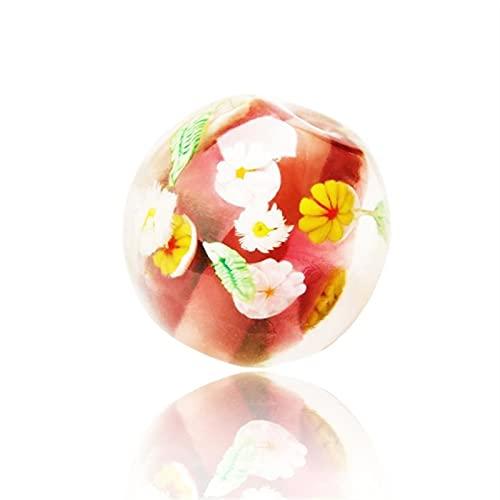 YSJJNDH Perline di Vetro Calla Lotus Fiore colorato Vetro Perline Lampada da Lavoro Dipinto a Mano...