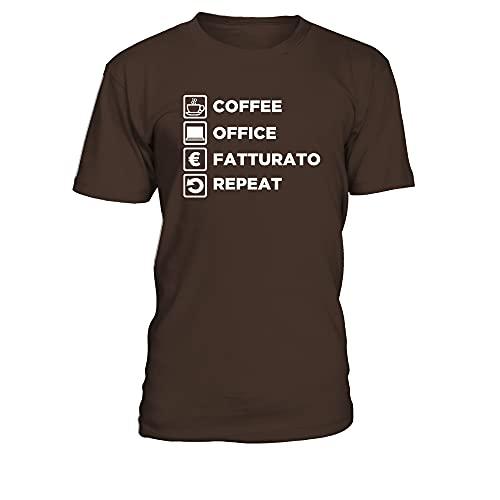 T-Shirt Scollo Tondo Uomo per Veri MILANESI IMBRUTTITI - Cioccolato - L