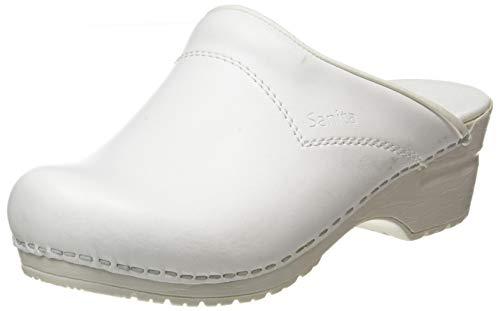 Zuecos Sanita Flex, 314, blanco, abierto, tamaño 35 eu