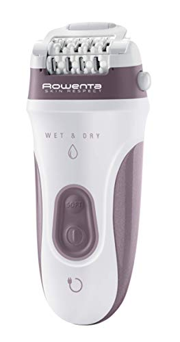 Rowenta EP8050Skin Respect elektrischer Epilierer für Frauen Wet&Dry, mit 5Zubehörteilen und Technologie, welche die Haut respektiert mit 9 Zubehörteilen
