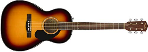 Fender 6 String CP-60S Parlor Acoustic Guitar, Right, 3 Tone Sunburst (970120032)