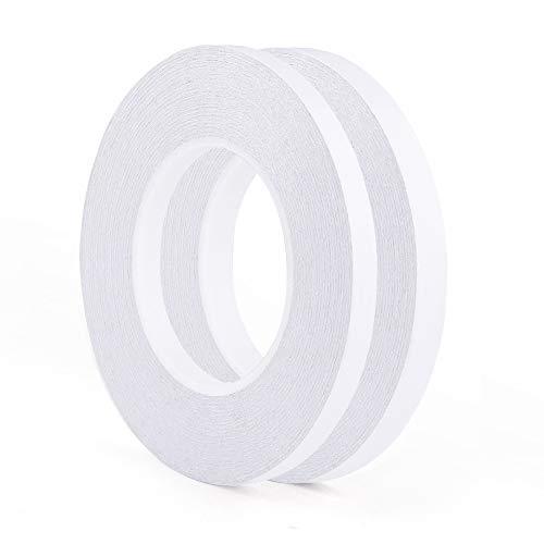 FEPITO 2 Rolls Doppelseitiges Klebeband Stark Papier für Handwerk Klasse Büro 35 Meter pro Rolle (9mm and 12mm)